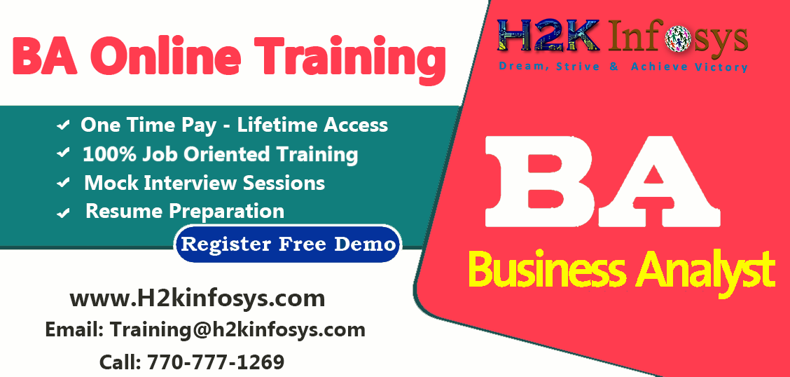 Business Analyst(BA) Online Training in USA