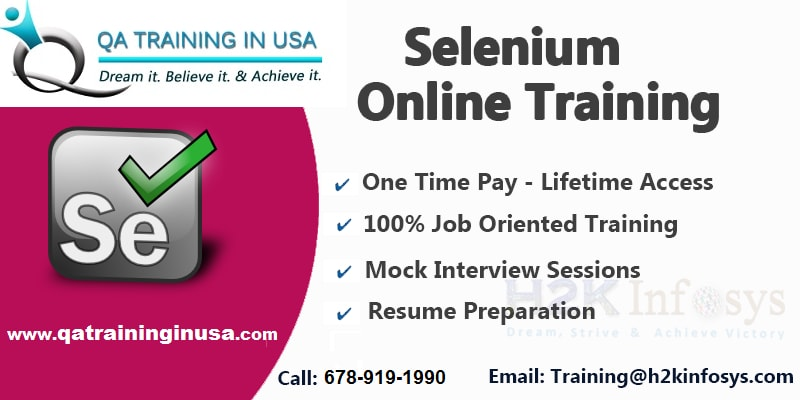 Professional Selenium Online Training with live...