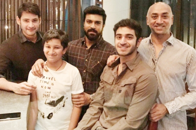 Mahesh and Charan spotted partying together